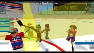 ROBLOX Admin Playing Hockey On ROBLOX!