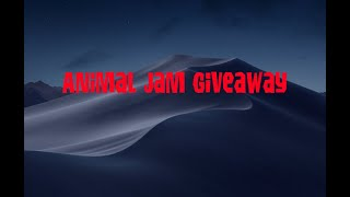 Animal jam giveaway road to 30