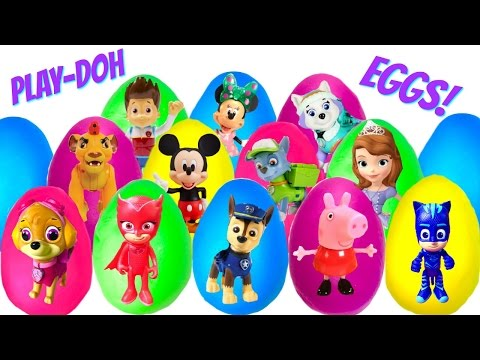 Thumbnail: Best Learning Colors Video for Children - 16 Play Doh Eggs With Paw Patrol Nick Jr Disney Jr