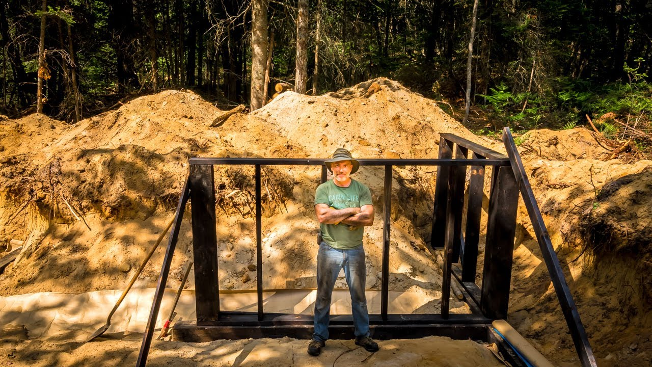 CHARRED WOOD FOUNDATION for My OFF GRID Wilderness Log Cabin | Greenhouse Irrigation | Shou Sugi Ban