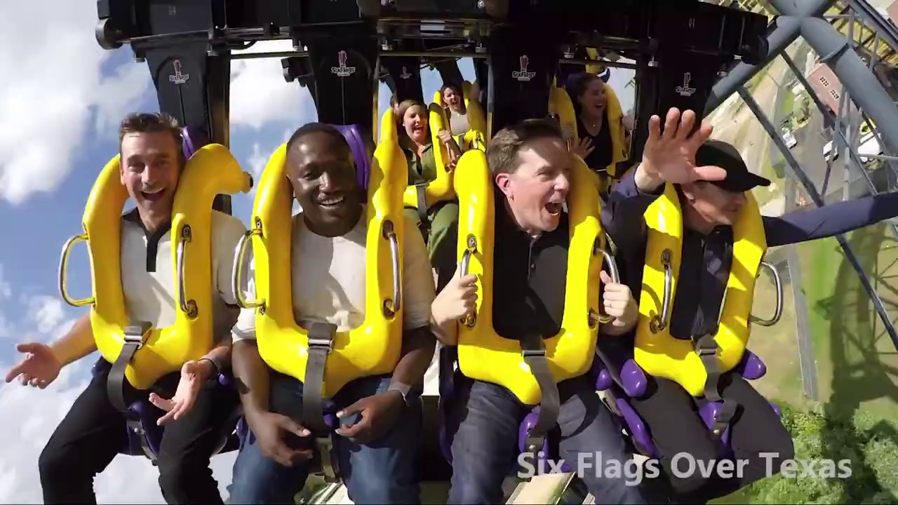 Tag movie cast ride the roller coaster