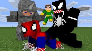 Noob Spiderman Life - Minecraft Animation