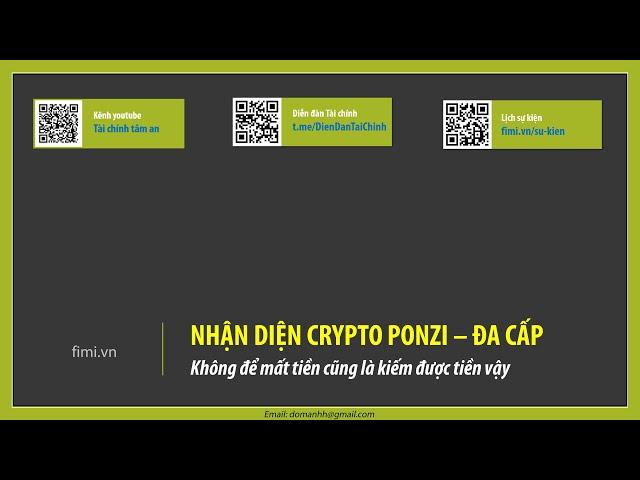 Cách nhận biết Crypto ponzi đa cấp