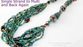 Boho Beaded Necklace - One Strand to Many and Back Again (Plus How to Make Bead Soup)