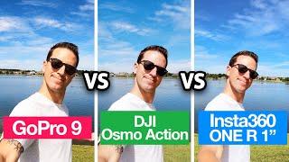 GoPro HERO 9 vs DJI Osmo Action vs Insta360 ONE R 1-inch!