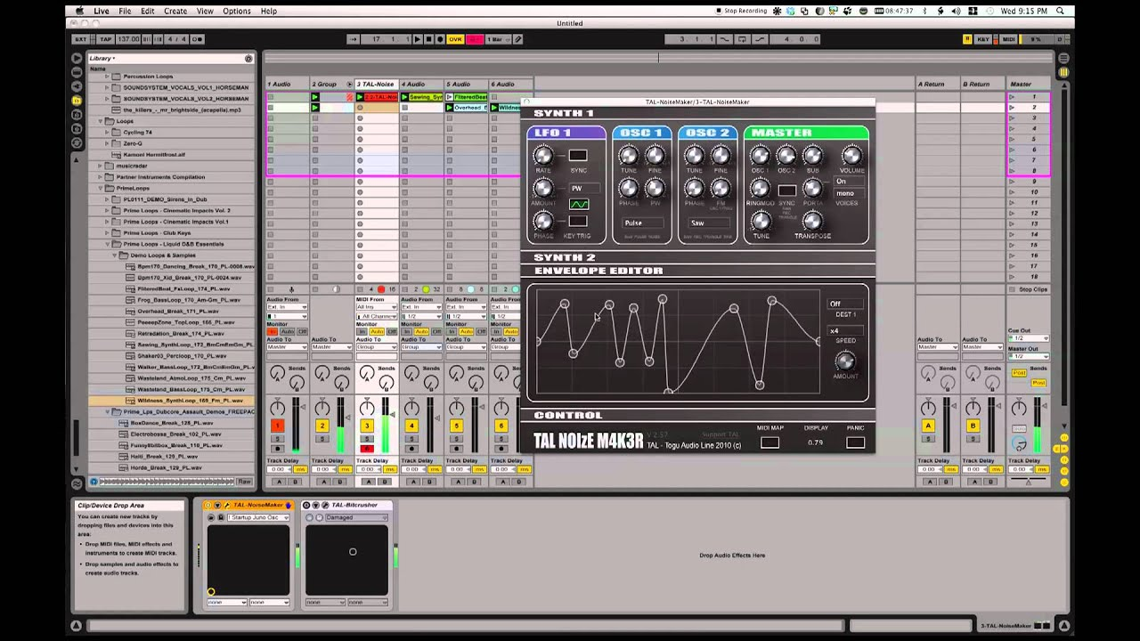 FREE plugins! New Drum n Bass & Dubstep sounds with TAL NOIzeM4K3R in  Ableton Live