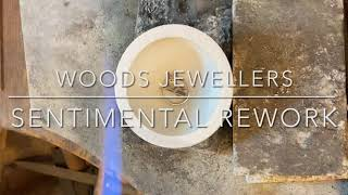 Watch our Goldsmith turn an old sentimental ring mount into a handmade disk pendant