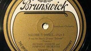 Chicago Symphony Orch. / recorded in November 1921 transfer from Br...