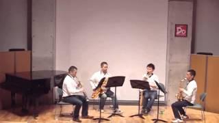 【Spur Saxophone Quartet】 2013年2月9日(土)スペースDoにて.