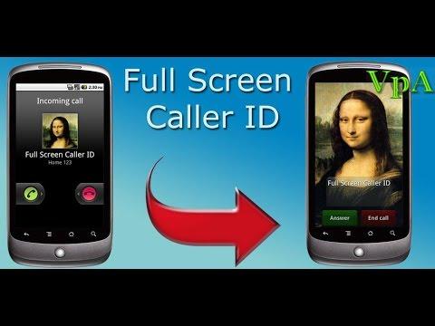 Фото контакта на весь экран на Андроид - YouTube