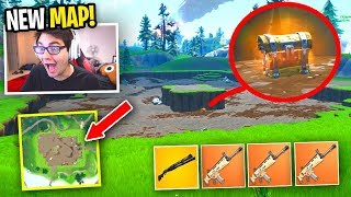 I only use loot from the NEW CRATER... (Fortnite NEW MAP UPDATE)