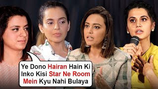 Kangana's Sister Rangoli Chandel INSULTING Comment On Taapsee Pannu, Swara Bhaksar In Public