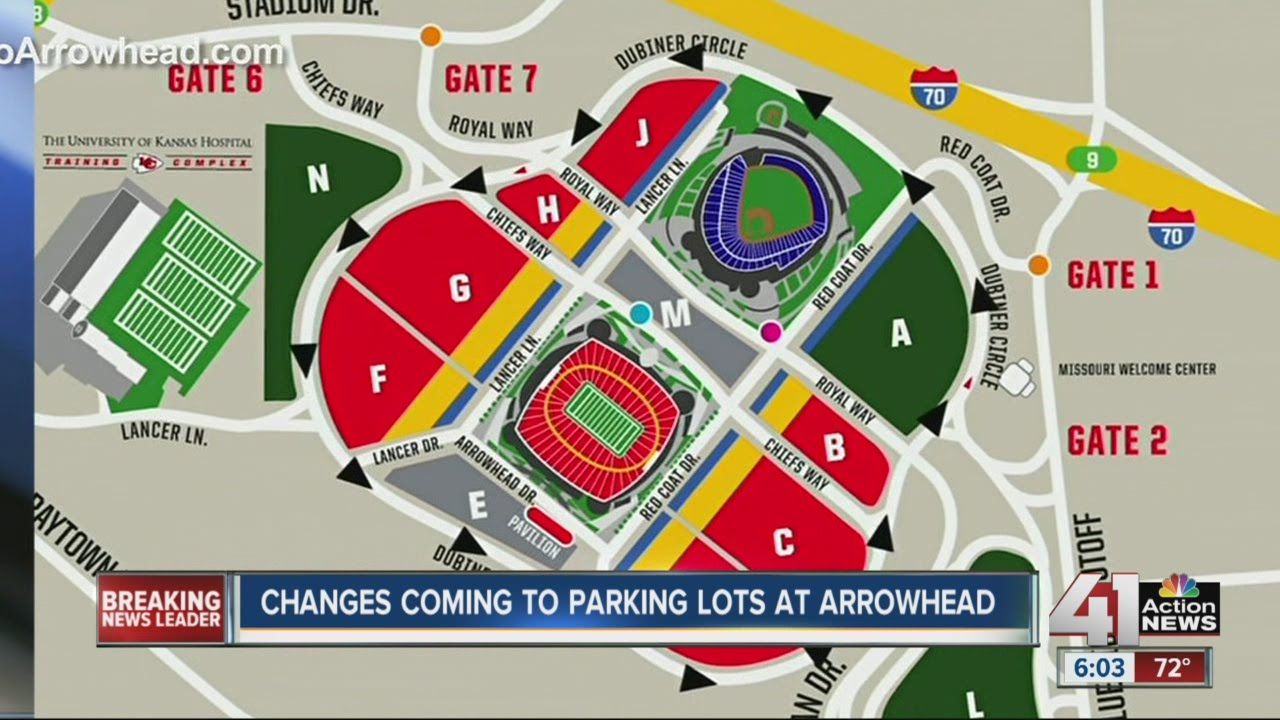 Red 1 Parking Arrowhead New Rules For Arrowhead Stadium Parking Lot Youtube