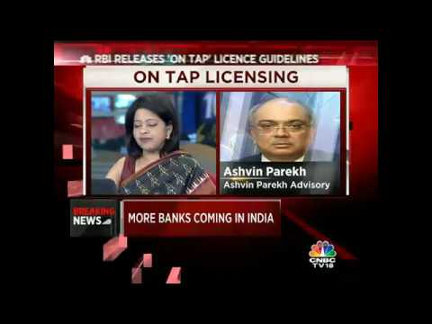 RBI Releases 'On Tap' License Guidelines
