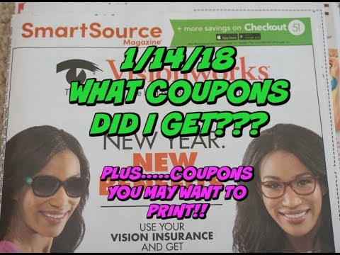 1/14/18 WHAT COUPONS DID I GET? ~ COUPONS TO PRINT