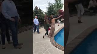 Green Jacket Girl Falls In Pool Prom | Collab Clips
