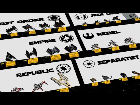 Every Starfighter in Star Wars By Factions 3D |