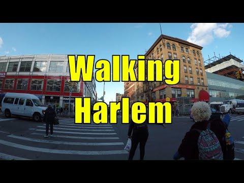 ⁴ᴷ Walking Tour of Harlem, Manhattan, NYC - 125th Street (Dr. Martin Luther King Jr. Boulevard)