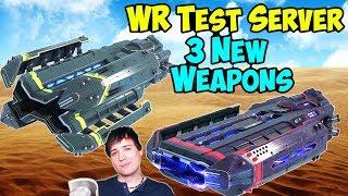 War Robots Test Server: 3 New Energy Shotgun Weapons - WR News Vlog