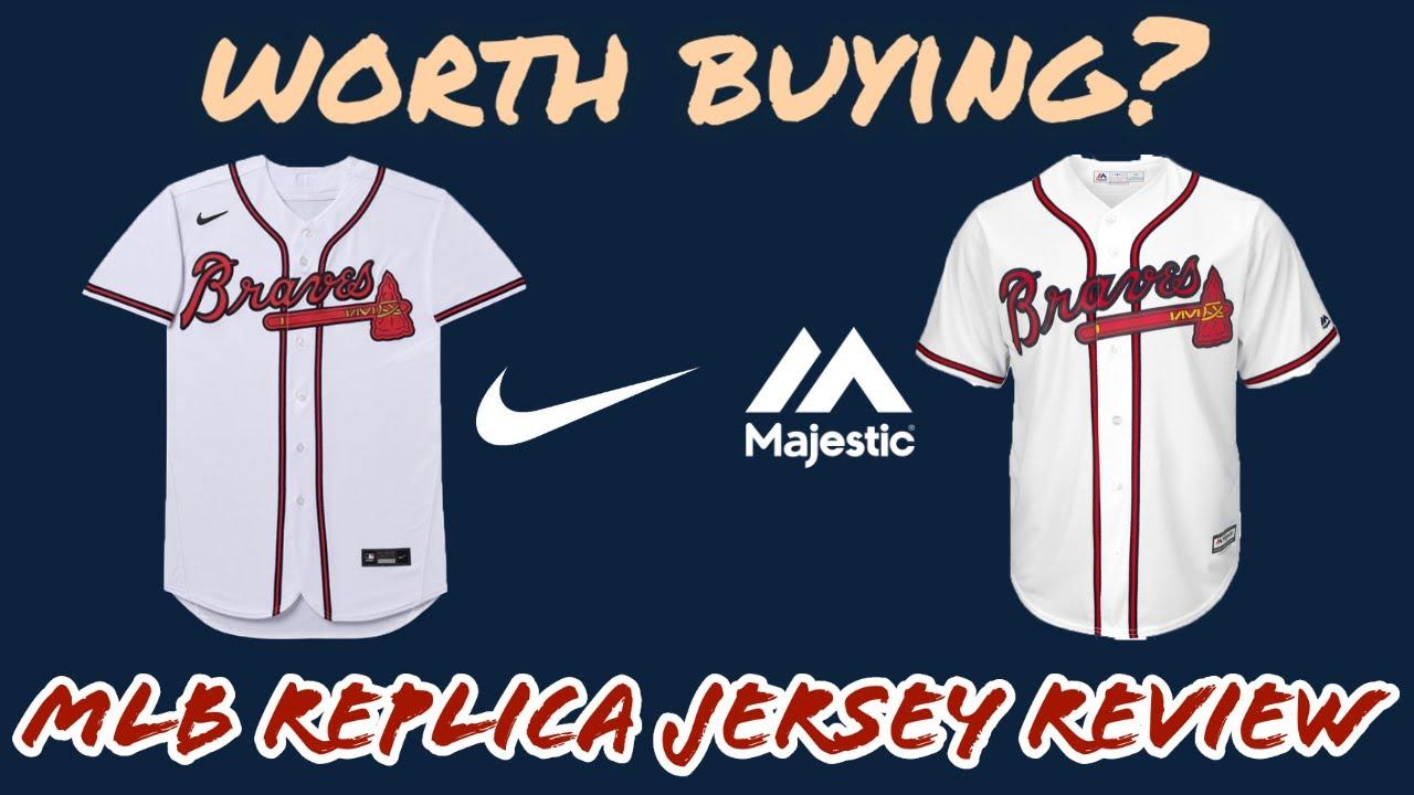 Nike vs Majestic MLB Jersey Comparison