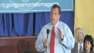 Governor Christie Responds To Teacher During Town Hall thumbnail