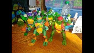 Pop Up Ninja Action Michelangelo Side Flip Ninja Attack Raphael 2018 Shell 794