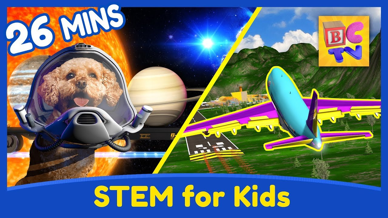 Download Science and Engineering Educational Compilation for Kids - Planets, Airplanes and More!