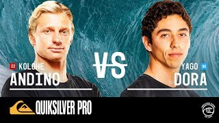 Kolohe & Yago Set Head-To-Head In Epic Round of 16 Quiksilver Pro