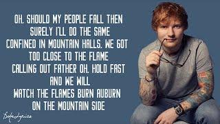 Download Ed Sheeran - I See Fire (Lyrics)