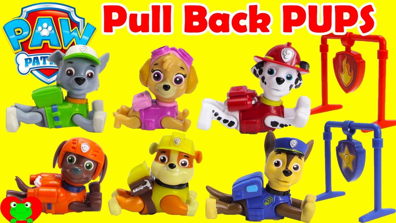paw patrol pull back pups rescue rocky with surprises youtube. Black Bedroom Furniture Sets. Home Design Ideas