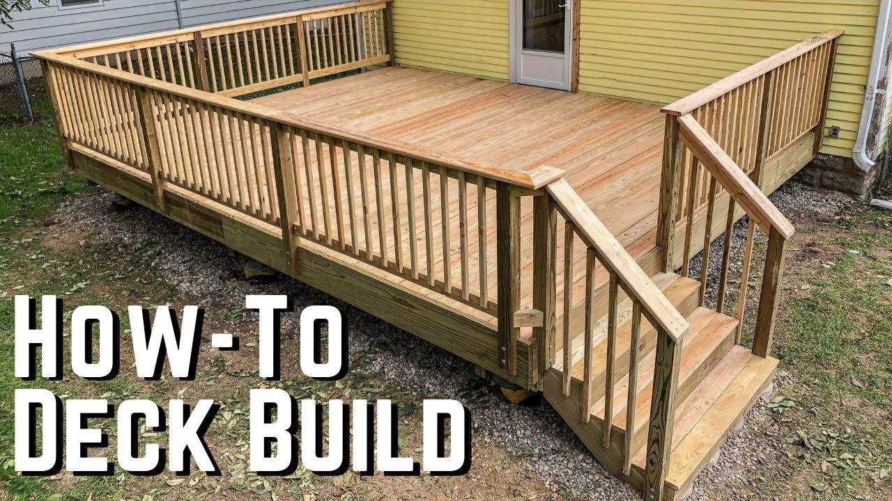 how to build a deck diy home improvement