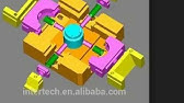 Three Plate Mould with Stripper Plate and Feed Plate - YouTube