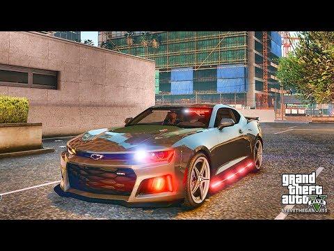 GTA 5 MODS LSPDFR 772 - CAMARO ZL1 PATROL !!! (GTA 5 REAL LIFE PC MOD)