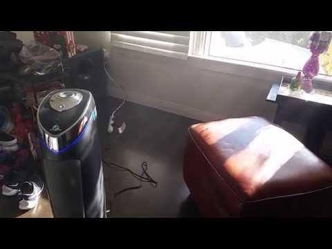 GermGuardian AC5000 True HEPA Filter Air Purifier Working on Visible Dust