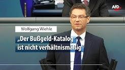 Wolfgang Wiehle zum neuen Bußgeldkatalog für Autofahrer