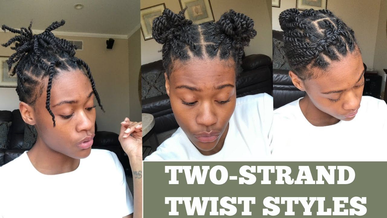 Natural Hair 5 Ways To Style Two Strand Twist Youtube
