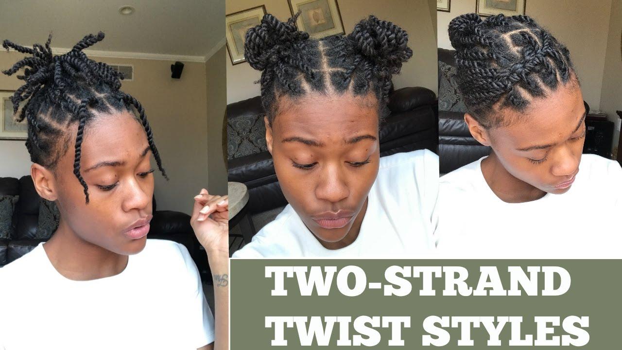 5 Ways To Style Two Strand Twist - YouTube
