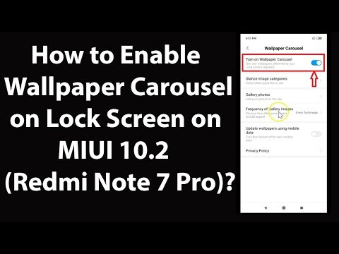 How To Enable Wallpaper Carousel On Lock Screen On Miui 10 2 Redmi Note 7 Pro Youtube