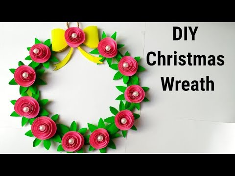 DIY Christmas wreath/How to make paper christmas wreath