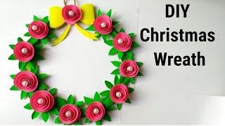 DIY Christmas wreath/How to make paper christmas wreath