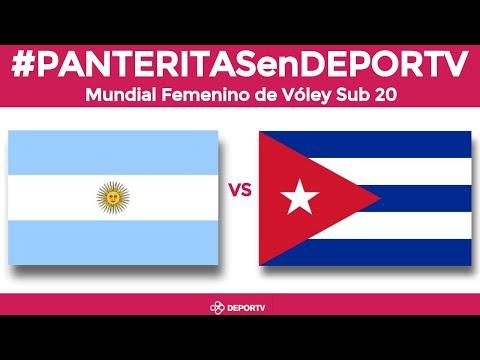 Argentina vs Cuba (Grupo H - J3) - Mundial Sub 20 Voley Femenino - León, México 2019