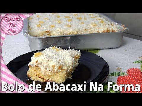 Bolo Gelado De Abacaxi Com Coco na Forma!!