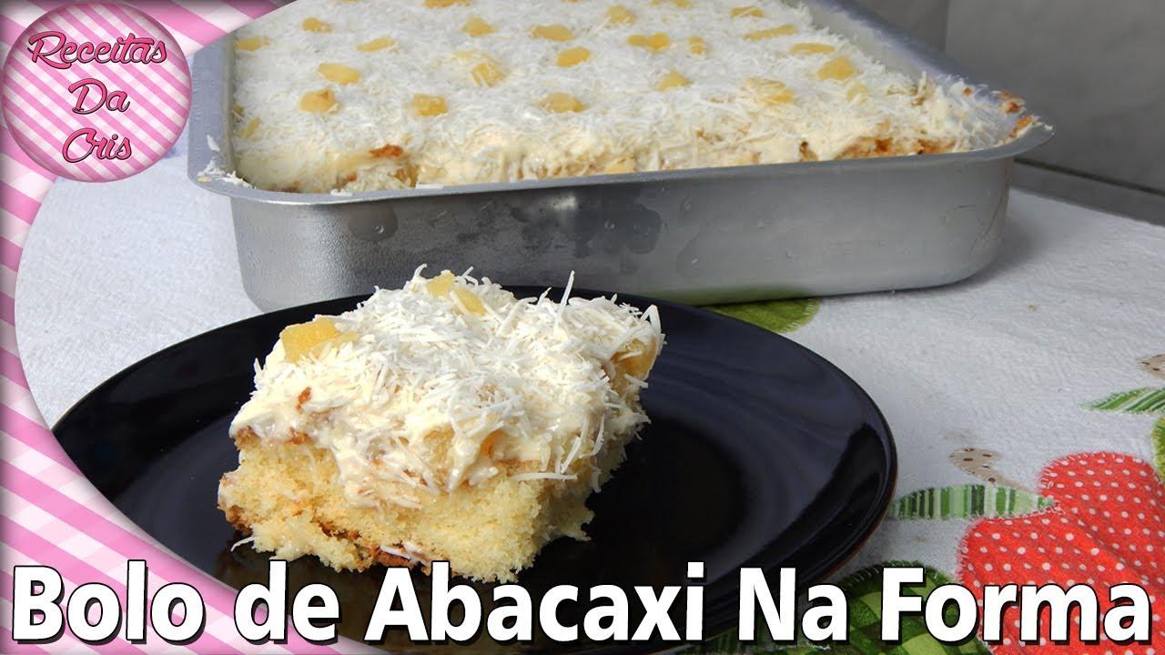 BOLO GELADO DE ABACAXI COM COCO , NA FORMA | RECEITAS DA ...