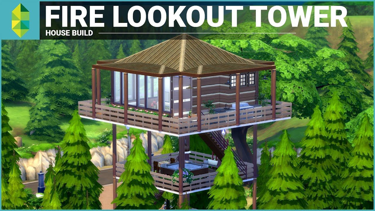 the sims 4 house building fire lookout tower viyoutube