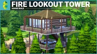 The Sims 4 House Building - Fire Lookout Tower