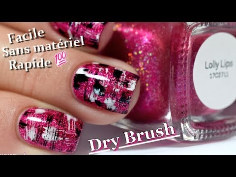 nail art facile rapide et sans mat riel dry brush nails tutorial youtube. Black Bedroom Furniture Sets. Home Design Ideas