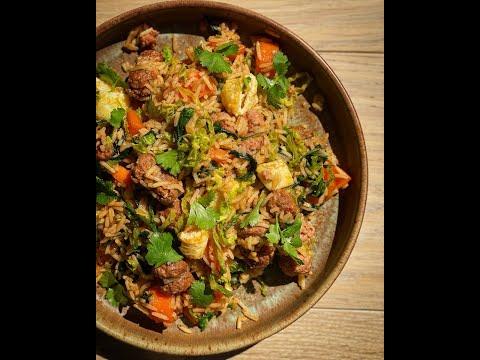 recette-riz-sauté-aux-saucisses-façon-cyril-lignac