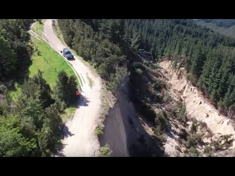 Incredible earthquake devastation in New Zealand filmed by drone