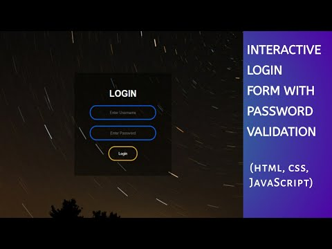 Login Form Using HTML & CSS & JavaScript With Validation Of Username And Password | Tech Projects