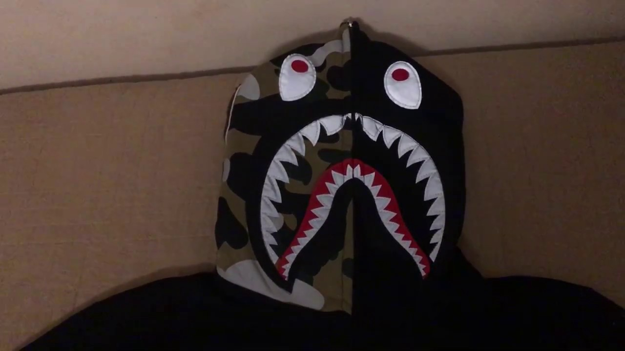72bd6f7227449 Bape shark hoodie - black 1 (Replica from Amazon)